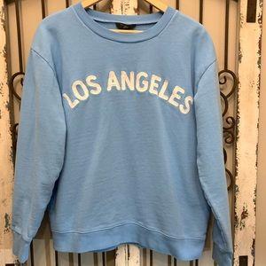 J. Crew Los Angeles Sweatshirt Light Blue L NEW